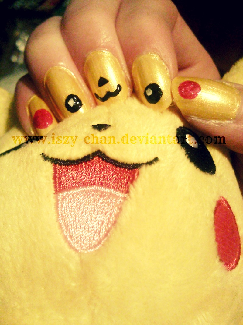 Pikachu Nails by Iszy-chan