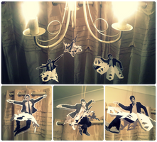 Christmas Decorations: hot men in snowflake tutus by Iszy-chan