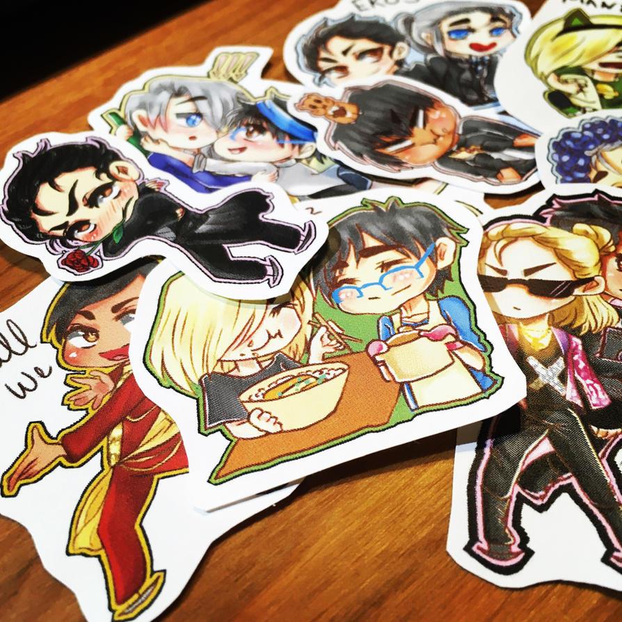 Yuri!!! On Stickers wip  by MissSpock