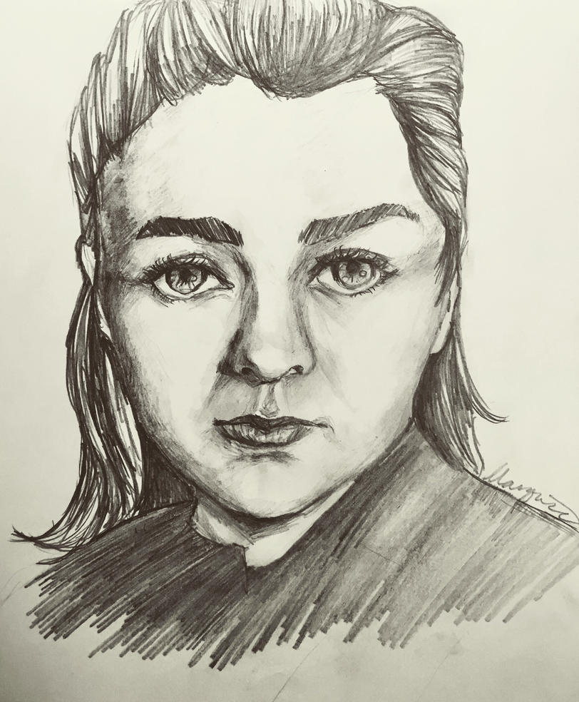 A girl is Arya Stark of Winterfell by MissSpock