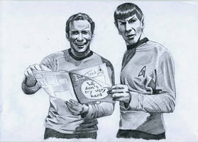 Star Trek on set - reading a magazine by meilin-mao