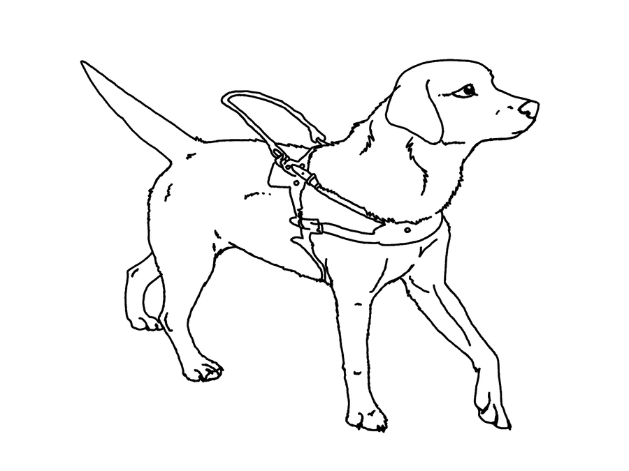 seeing eye dog coloring pages | Seeing-Eye Dog Lineart by tatiilange on DeviantArt