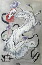 Mask - INKTOBER by tatiilange