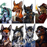 [Patreon Gifts] Sketch busts batch 10-11
