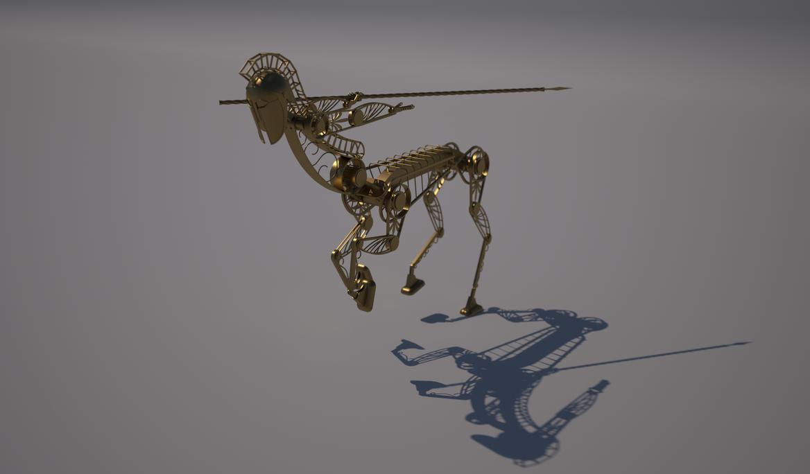 Little Brass Centaur by SinisterThief