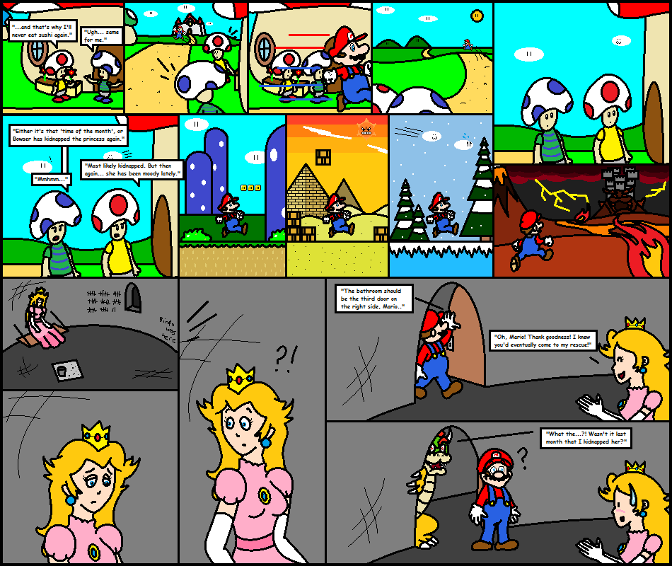 Super Mario Comic #1 (Alternate Ending 2) by virtualboy2558 on