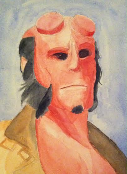 WIP Hellboy portrait by disneyangel89
