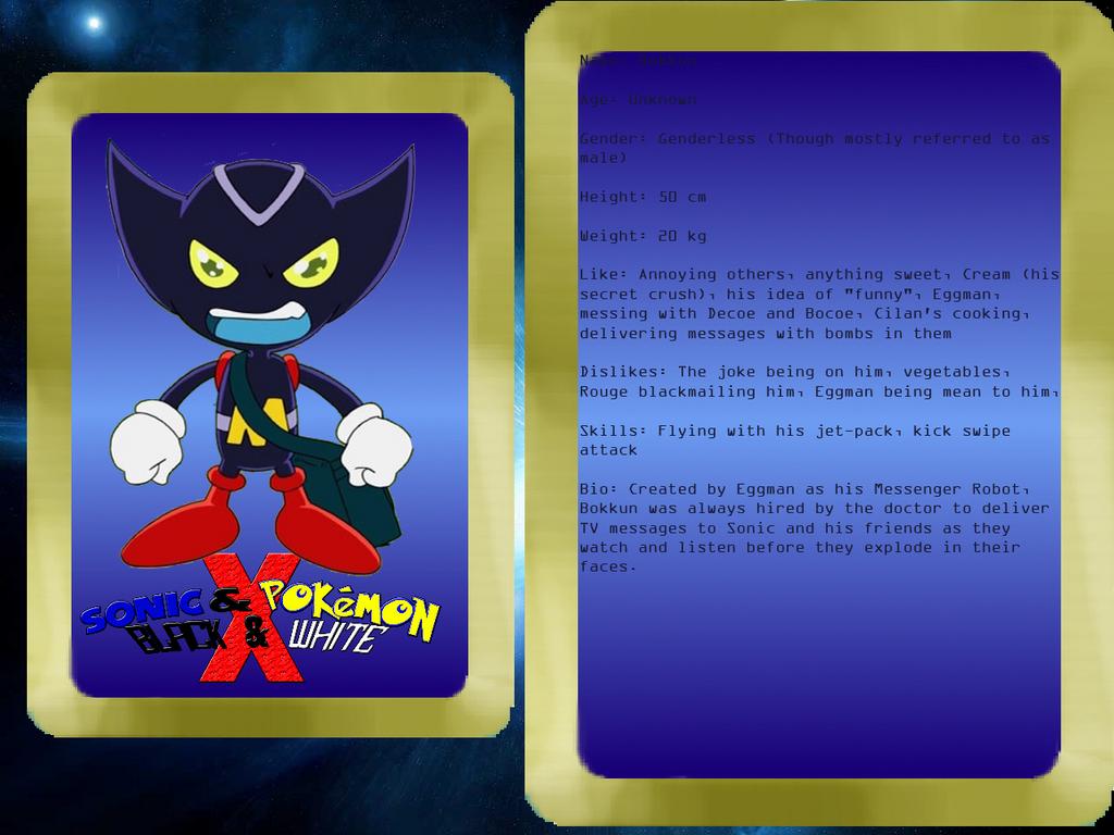 Sonic and Pokemon BW X Info Bokkun by Aquamimi123
