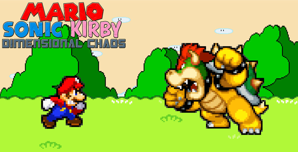 Mario, Sonic, Kirby Dimensional Boss 01 - Bowser by Aquamimi123 on