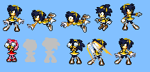 Volt Amy Sprite preview by Aquamimi123