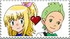 PKMN - Cilan X My PKMN OC Elisa stamp by Aquamimi123