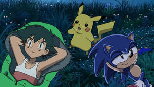 PC - Ash and Sonic watching the Stars