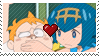 PKMN Sun and moon - Sophocles and Lana Stamp by Aquamimi123