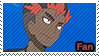 PKMN Sun and moon - Kiawe Fan Stamp by Aquamimi123
