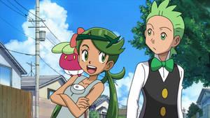 Pokemon Anime fanart - Mallow and Cilan