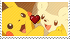 PKMN Sun and moon - Pikachu X togedemaru Stamp by Aquamimi123