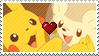 PKMN Sun and moon - Pikachu X togedemaru Stamp by Aquamimi123