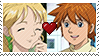 Sonic X - Chris X Helen Older Stamp