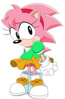 Classic Amy - Sonic X Artwork Style by Aquamimi123