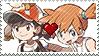 PC - PKMN Shipping - Elaine X Misty Stamp by Aquamimi123