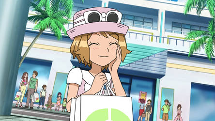 Pokemon SM fake picture - Serena in Alola by Aquamimi123