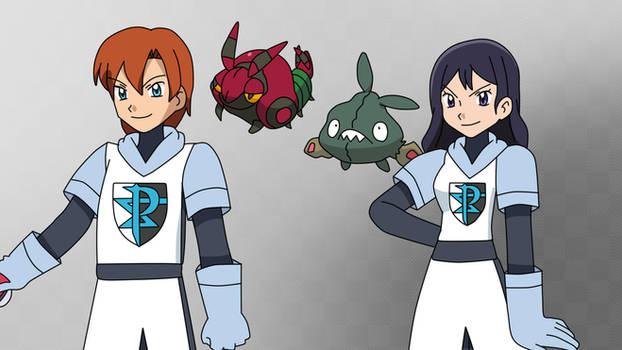 My New PKMN Team Plasma OC - Alferd and Margaret