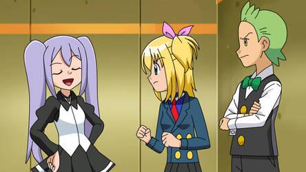 Pokemon BW OC picture - Elisa, Cilan and Diana