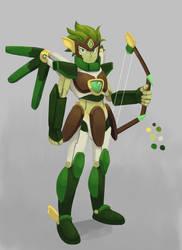 Mecha Wind Archer Concept by arrivemedi