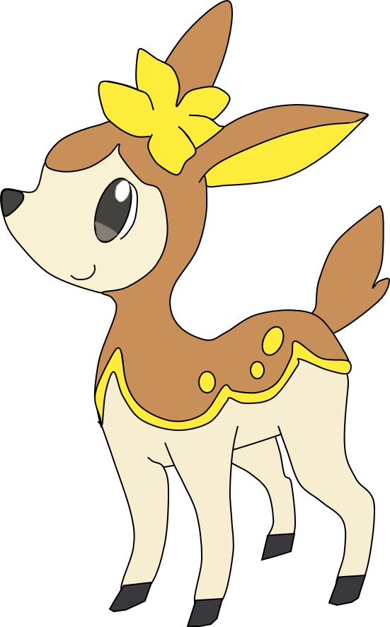 Deerling evolution the image kid has it for Deerling coloring pages
