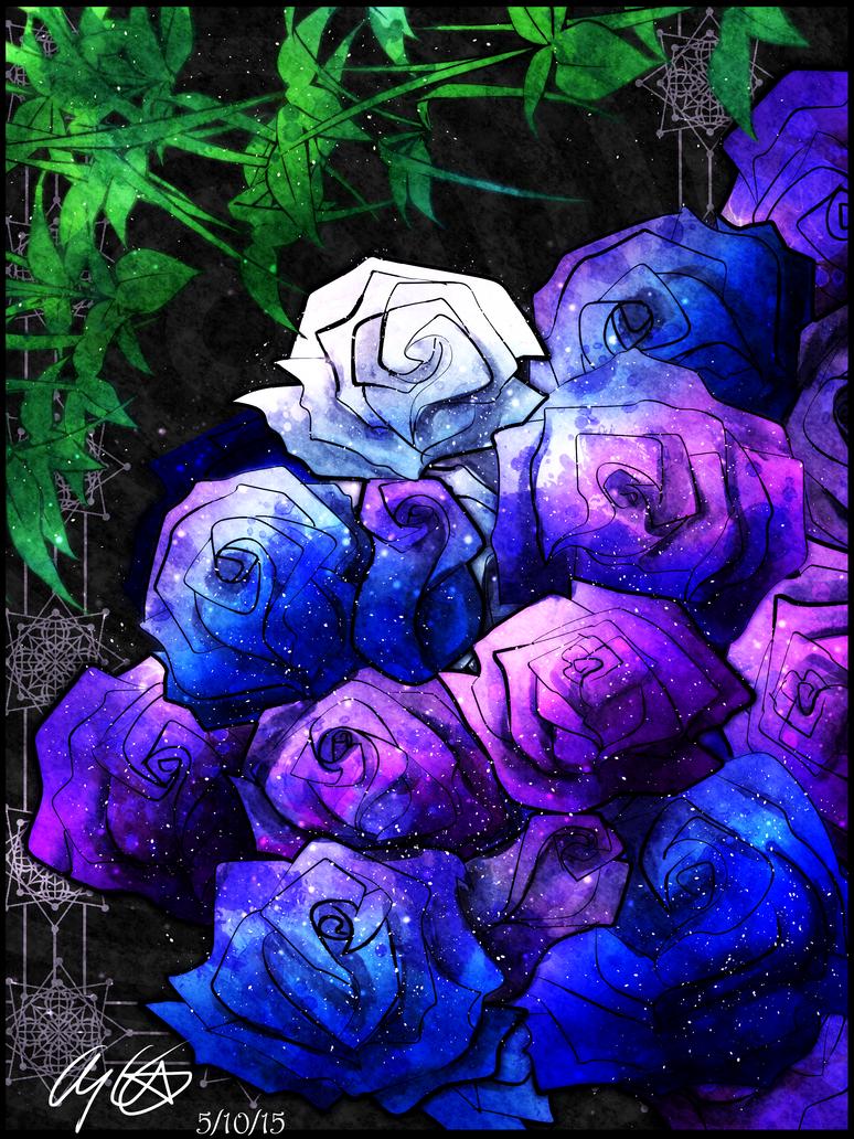 Galaxy Rose Spiraling by Lady--Nyx