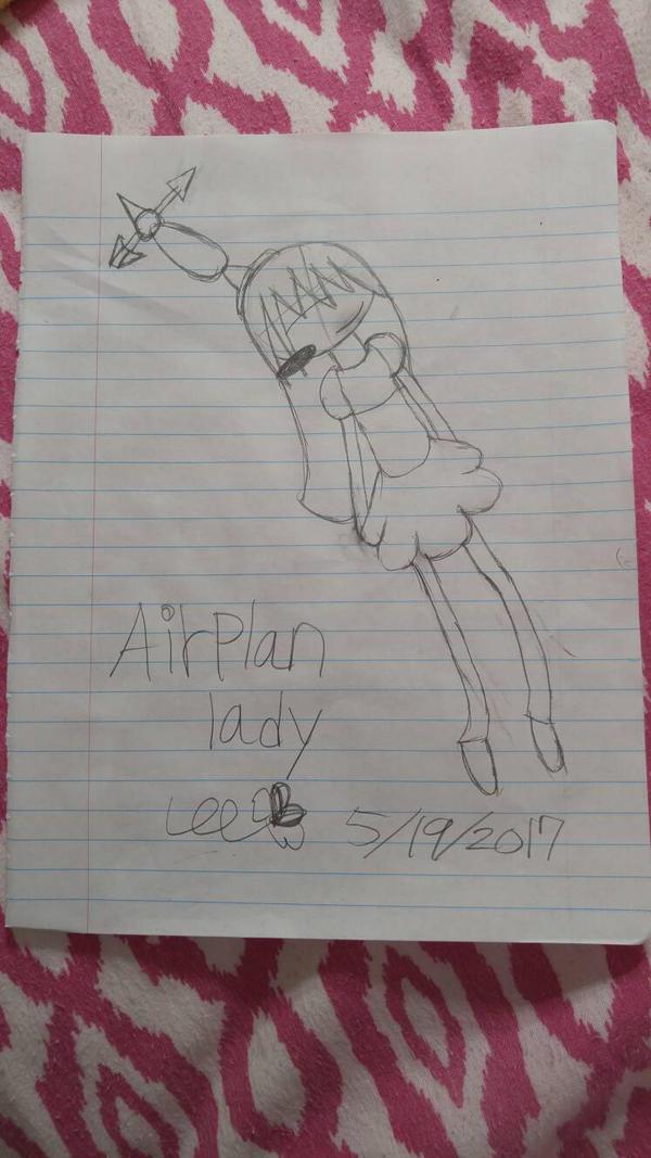 Airplane lady  by WaffleClawn