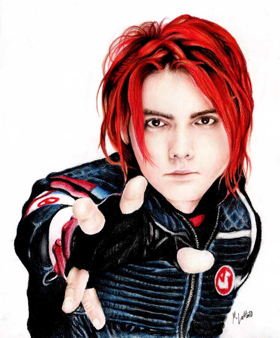 cool red hair gerard way party poison