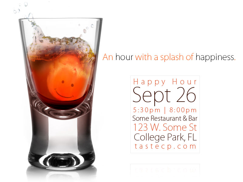Splash Of Happy Hour Invite By Iamnerdgod On Deviantart