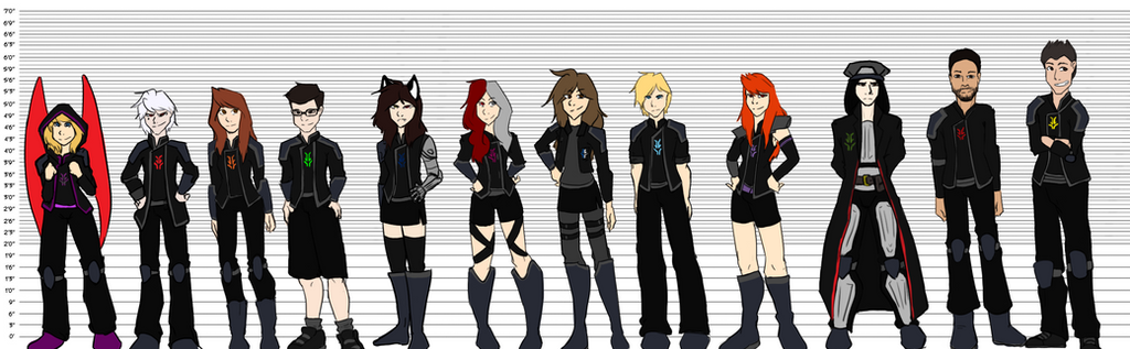 The Dark Legion: Height Chart by ToriFross