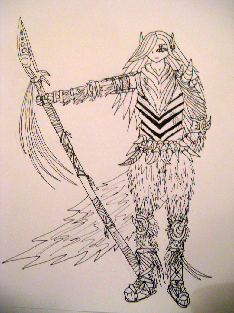 flare fox warrior girl kari by ThoronWildFox Girl Warrior