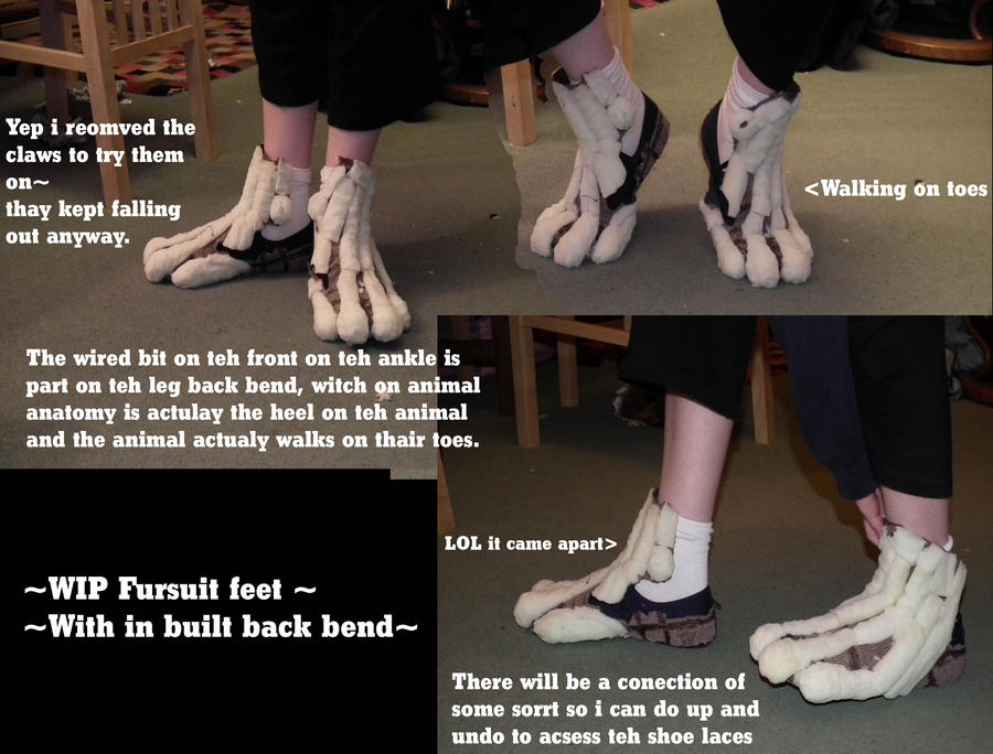 how to make fursuit feet