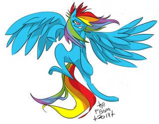 Rainbow Dash by TheFawnFlying
