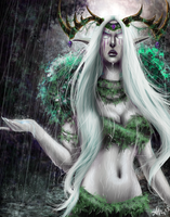 Night elf Druid by Zynthex