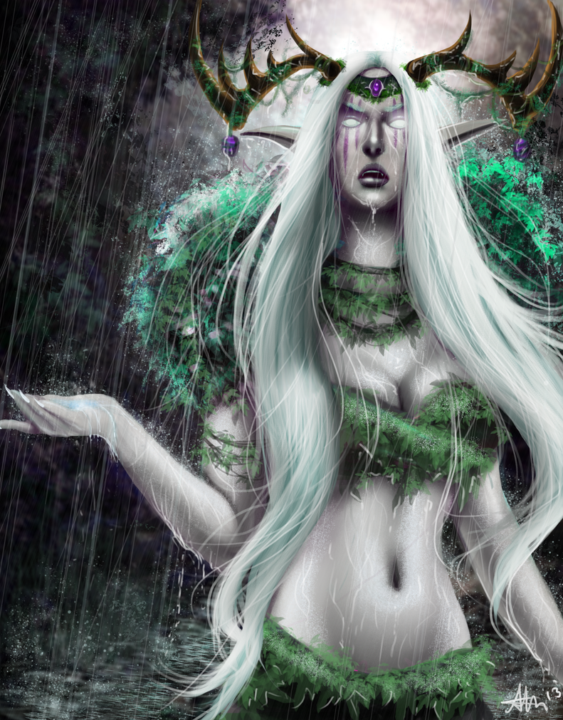 Night elf Druid by Zynthex