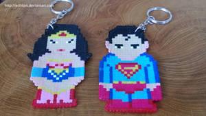 Marvel Superheroes - Superman and Wonderwoman by Echilon