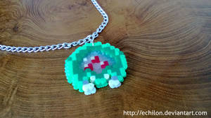 Super Metroid Necklace from Perler Beads by Echilon