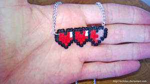 Pixel Life Meter Necklace by Echilon
