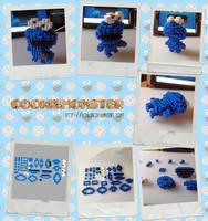 CookieMonster Perler 3D Sprite by Echilon