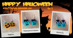 Halloween Earrings #1 by Echilon
