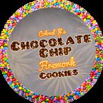 Chocolate Chip Firework Cookies