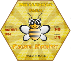 Honey label - Geeky Bee by Echilon