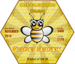 Honey label - Geeky Bee