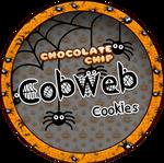 Chocolate Chip Cobweb Cookies