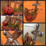 Halloween Graveyard Sculpture