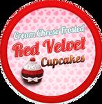 Red Velvet Cupcakes + White Chocolate Cream Cheese
